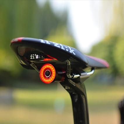 ZHEBEI Luz Trasera de la Bicicleta Sensor Inteligente luz de Freno ...