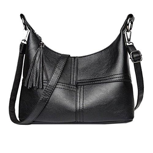 Crocodile Tassel - WILLTOO Clearance Womens Tassel Splice Totes Handbag Crocodile Leather Crossbody Shoulder Bags (Black)