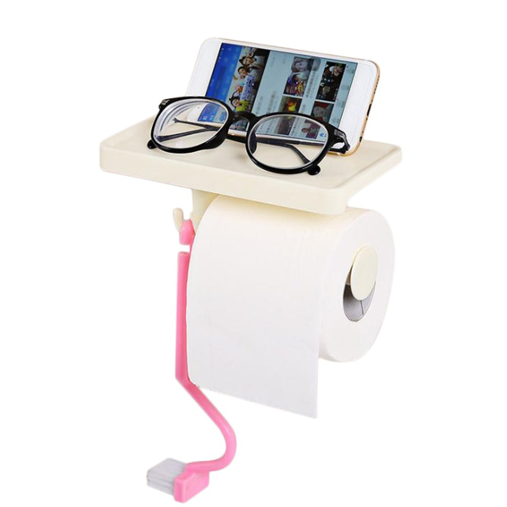 aikesi porta asciugamani di carta nuovo plastica supporto da parete per cucina e bagno supporto di carta bagno Articoli per la casa 8.4*10*7.5CM blu