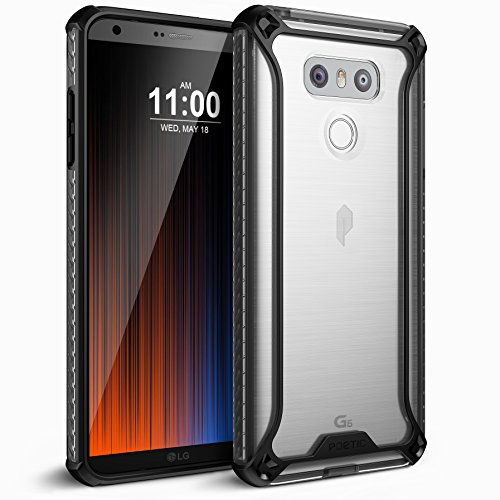 Poetic Affinity Slim Fit for LG G6 Clear Case With Anti-Slip Side Grip and Reinforced Corner Protection Bumper for for LG G6 Black/Clear