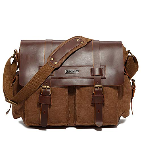 School Bn Bonane Messenger For Daily Bag Shoulder Brown Use Vintage 8223 Canvas Work aRqwFfw4Z