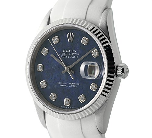 Rolex Datajust automatic-self-wind blue unisex-adult Watch 16234 (Certified Pre-owned) by Rolex (Image #4)