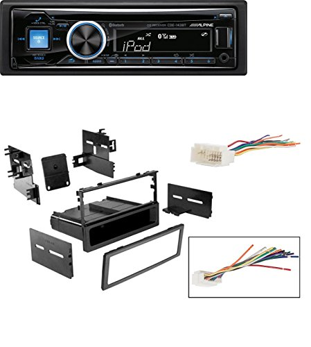 CAR STEREO DASH INSTALL MOUNTING KIT WIRE HARNESS FOR HONDA 1986- 2008 With Alpine CDE-143BT Advanced Bluetooth CD Receiver