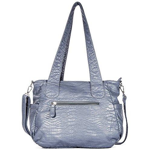 Bag Angel Bag Barcelo Tote Blue Handbag Bag Ladies' Designer Handbags PU Multiple Fashion Shoulder 2018 Satchel Women's Pockets Roomy 66rq8w