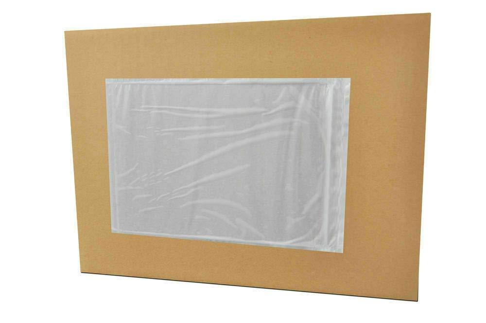 """B0179POZ4K 5.5\"""" x 10\"""" Clear Packing List Back Side Loading Plain Face Envelopes Pouches (1000 Pieces) 51bOn1HpMsL"""