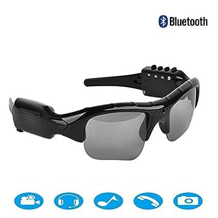 Xiaoqin Grabadora de Video Gafas de Sol Auriculares inalámbricos Bluetooth Lentes polarizadas Gafas de Sol Estéreo