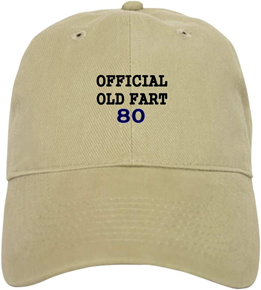 CafePress Official Old Fart 80 Baseball Baseball Cap