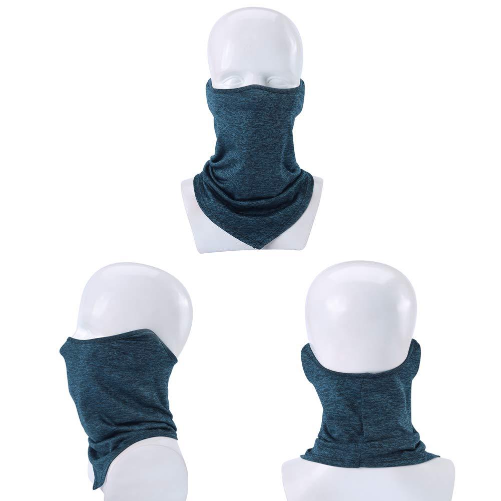 V-Shaped Thin 2-Pack Neck Gaiter Warmer Face Mask Cover Sun UV Dust Protection