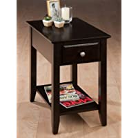 Jofran Chairside Table in Espresso Finish