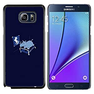 LECELL--Funda protectora / Cubierta / Piel For Samsung Galaxy Note 5 5th N9200 -- Divertido Unicorn Rhino --