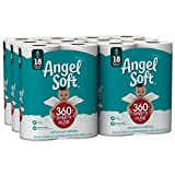 ANGEL SOFT Toilet Paper Bath Tissue, 36 Huge Rolls, 360+ 2-Ply Sheets Per Roll