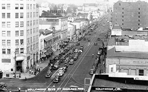 Hollywood, California - Hollywood Blvd and Highland Ave Photograph (16x24 SIGNED Print Master Giclee Print w/ Certificate of Authenticity - Wall Decor Travel - Hollywood Of Blvd Map