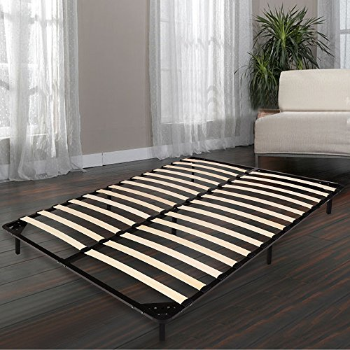Homdox Bed Frames / Wooden Slats Support / Mattress Foundation / Platform Bed Frame / Box Spring Replacements (King Size)