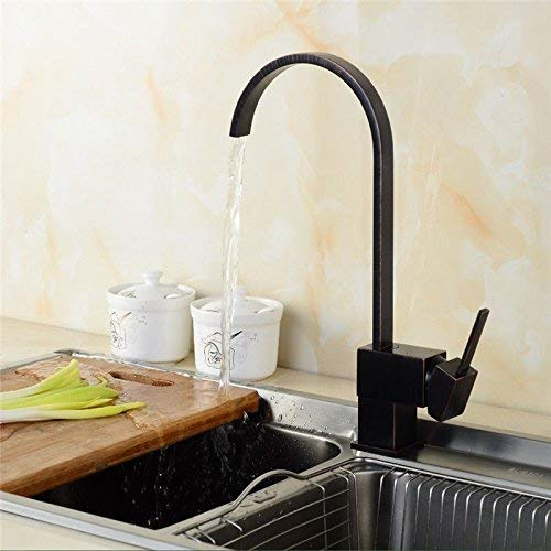 Oudan Kitchen tap contemporary solid brass hot and cold water sink mixer sink faucet kitchen sink tap (color   -, Size   -)