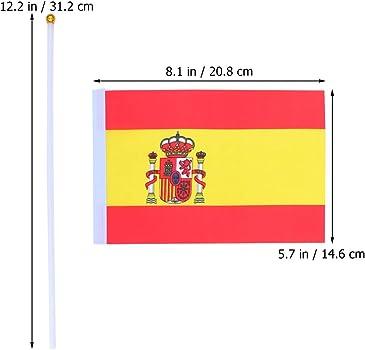 NUOBESTY 50 piezas bandera de señal de mano copa del mundo competencia bandera bandera animada banderas icónicas mano estilo españa: Amazon.es: Ropa y accesorios