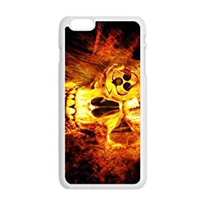 Fire Skull Pattern Hot Seller High Quality Case Cove For Iphone 6 Plaus