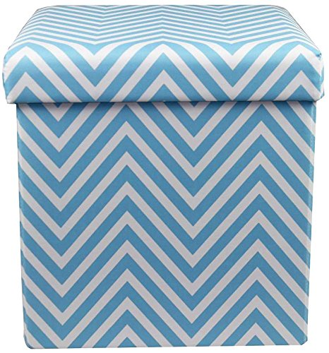 Magnificent Sorbus Chevron Storage Ottoman Cube Foldable Collapsible Andrewgaddart Wooden Chair Designs For Living Room Andrewgaddartcom