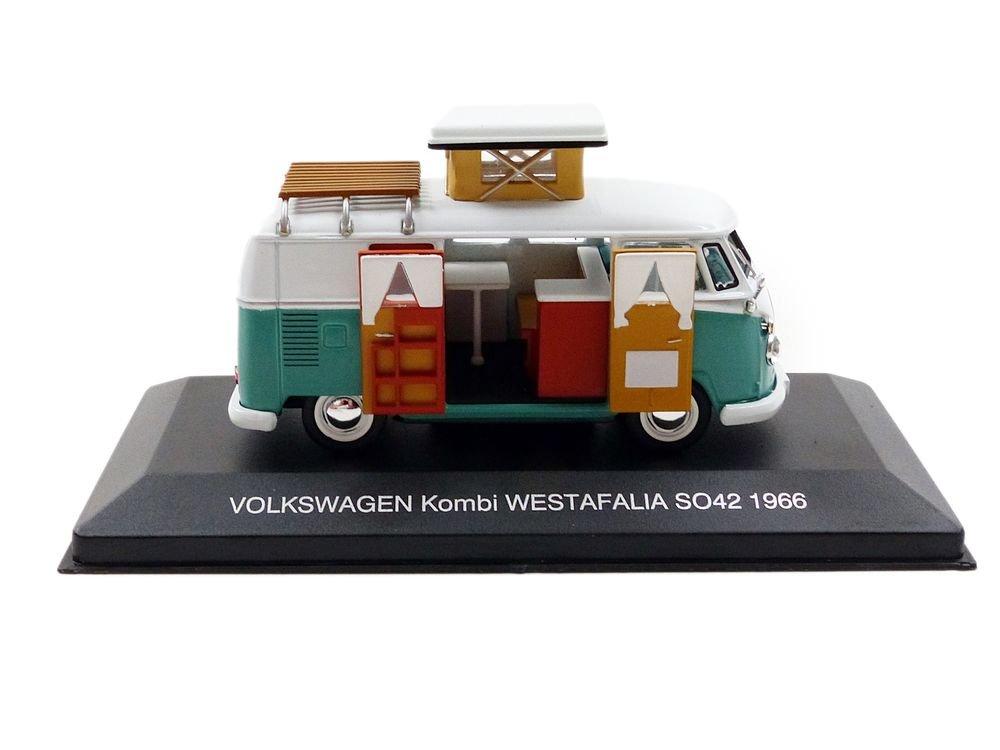 IXO cac002 – Juego de construcción – Volkswagen Combi Westfalia so42 Camper – 1966 – Escala 1/43, color verde y blanco