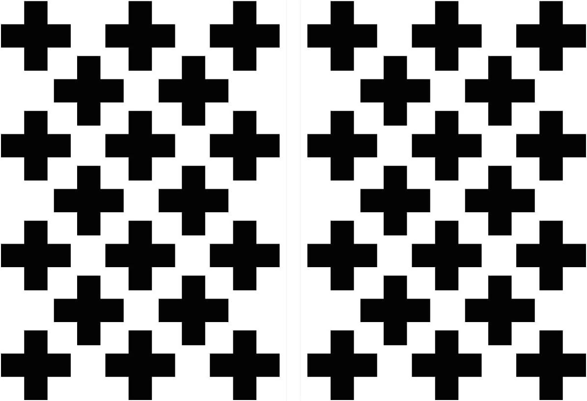 Tapisserie croix en noir 36 Pièce Set Décoration