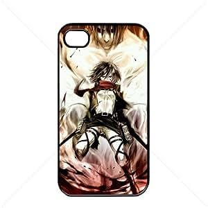 Shingeki no Kyojin Attack on Titan Manga Anime Comic Mikasa Ackerman Apple iPhone 4 / 4s TPU Soft Black or White case (Black) Kimberly Kurzendoerfer