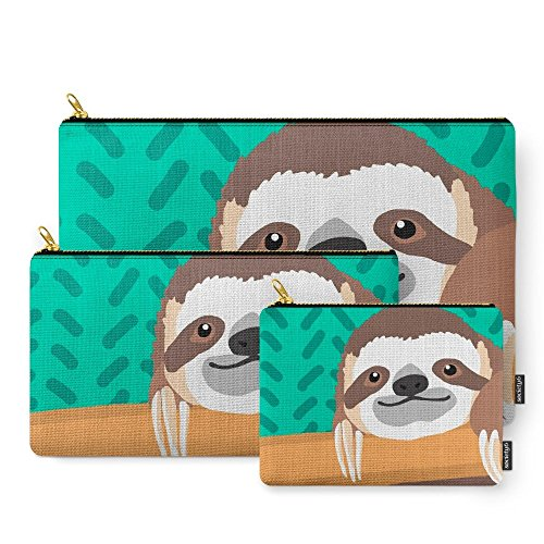 Society6 Brad Sloth Carry-All Pouch Set of ()