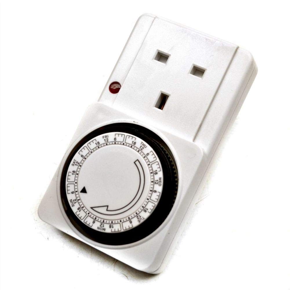 Mains Plug Timer 7 Day Week Switch Clock Mechanical Automatic Switch Sil184 by Tao tao family