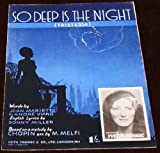 So Deep Is The Night Yvette Darnac Chopin 1939 Sheet Music Film Jazz Big Band Swing Large Sheet Music 12' x 10' Piano Vocal Guitar