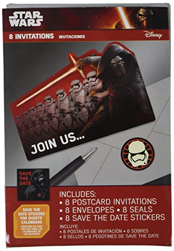 Star Wars Episode VII Postcard Invite, Party Favor]()