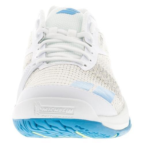 Babolat Jet All Court Hommes Chaussures de Tennis (Blanc/Bleu) - EU 47 - UK 12