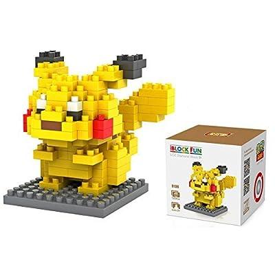 CARCHET Jeu de Construction Pokémon – Blocs de Construction de Figure Pokémon / avec Socle - Jouet Éducatif / 3D Puzzle Pokémon – Taille Entre 5 et 7 cm - Pikachu