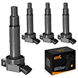 QYL Pack of 4 Ignition Coil Compatible with Toyota Camry 2.4L RAV4 Rav 4 Scion TC XB Solara Matrix Highlander Lexus Pontiac Scion UF333 C1330 UF-333 (NOT Fit 2009 Toyota Corolla)
