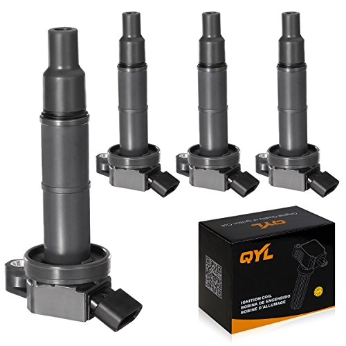Toyota Ignition Coil - QYL Pack of 4Pcs Ignition Coils Compatible with Toyota Camry Solara Rav4 Highlander/Scion Tc Xb #UF333 C1330 6731307 90919-02244