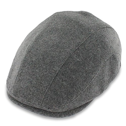 Belfry Linford Men's Wool Blend Duckbill Ivy Cap in Black or Gray (Lrg, Grey)