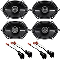 2005-2006 Ford Mustang Hifonics 6x8 Front+Rear Factory Speaker Replacement Kit