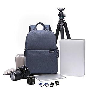 Andoer Waterproof Shockproof DSLR Camera Bag Photography Backpack Leisure Shoulder Bag for Nikon Canon Pentax Sony Camera w/ Rain Cover