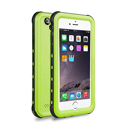 Zimu Joy iPhone 6 / 6s Waterproof Case, Underwater Full Sealed Cover Snowproof Shockproof Dirtproof IP68 Certified Waterproof Case for iPhone 6/6s 4.7 inch (Green) (Waterproof Case For Iphone 6)