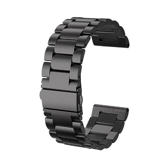 Sannysis banda de Acero inoxidable para Garmin Fenix 3 / HR, color negro
