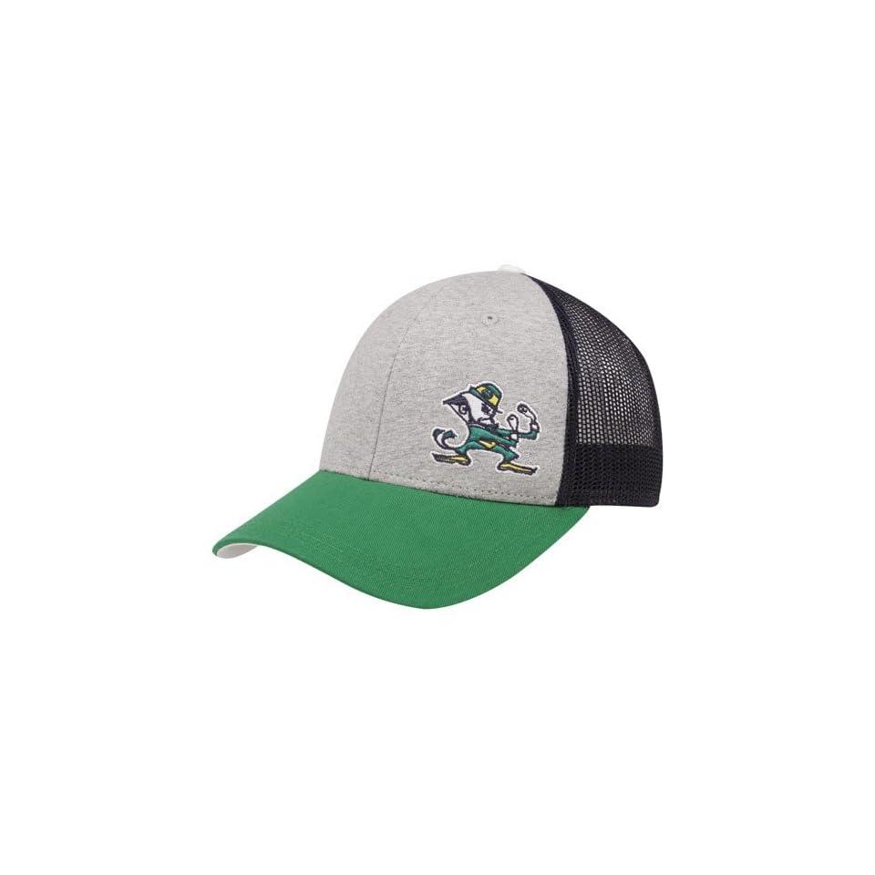 adidas Notre Dame Fighting Irish Ladies Ash Kelly Green Navy Blue Fashion Silhouette Mesh Back Adjustable Hat