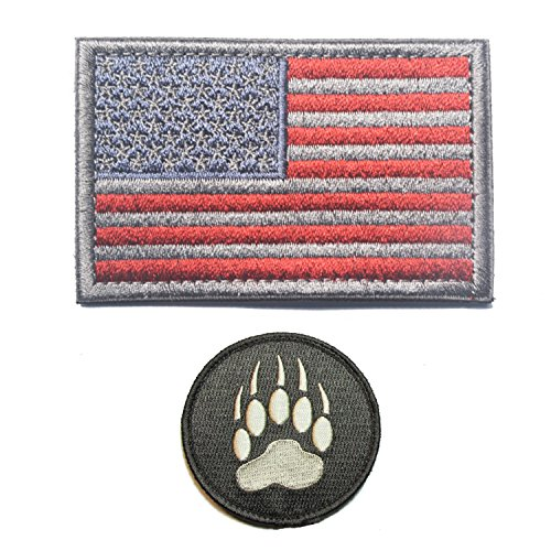 GrayCell Tactical Flag and Claw Print Patch Morale Military for Vest or ()
