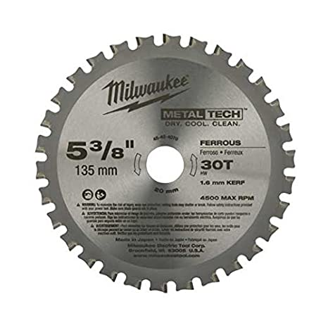 Milwaukee 48 40 4070 5 38 inch 30t ferrous metal blade circular milwaukee 48 40 4070 5 38 inch 30t ferrous metal greentooth Images