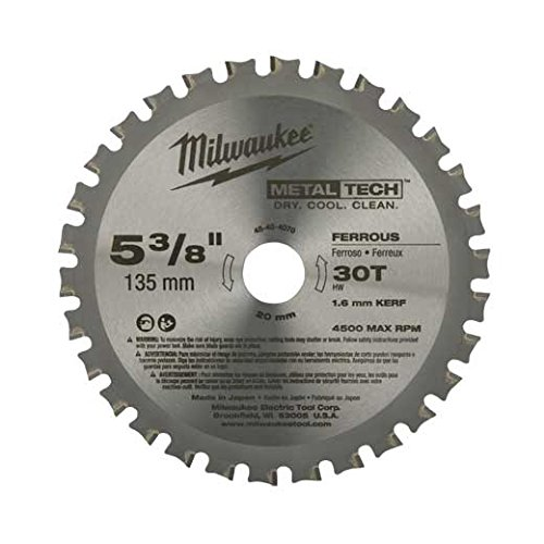 Milwaukee 48-40-4070 5-3/8-Inch 30T Ferrous Metal Blade