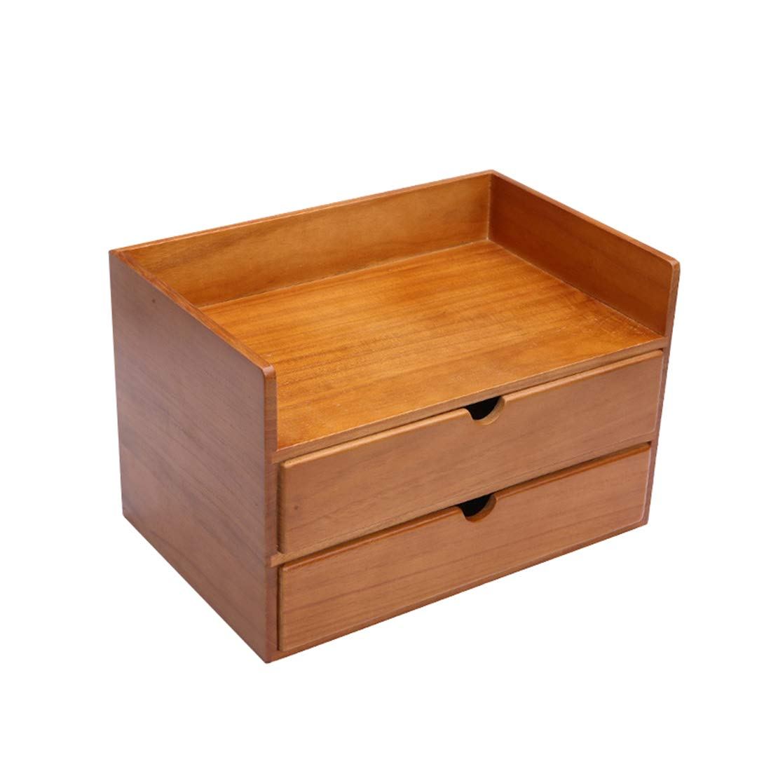 KERVINJESSIE Exquisite Wooden Desktop Solid Wood Cosmetics Collection Box Drawer Type Sundries Jewellery Box (Color : Wood)