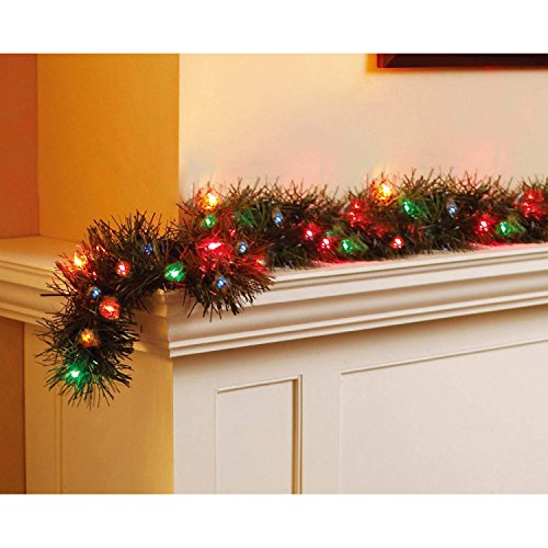 18' Holiday Time Multi Color Pre-Lit Garland (Ft 18 Garland Lighted)