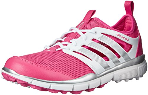 adidas Women's W Climacool II Golf Spikeless, Raspberry Rose-Tmag/Ftwr White/Silver Metallic, 6.5 M - Sport Shoe Raspberry