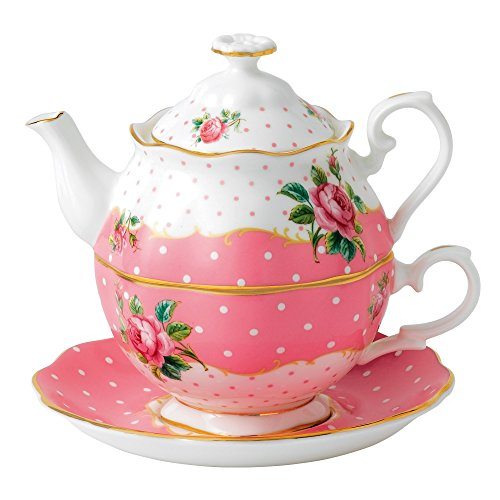 Royal Albert New Country Roses Vintage Single Serving Teapot, Cheeky - Teapot Time Tea
