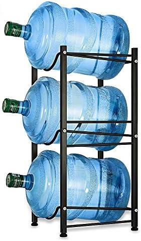 Water Bottle Storage Container Rack Unit Plastic Holder Shelves fit 5 Gallon