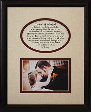 Amazoncom 8x10 Daddys Little Girl Picture Poetry Photo Gift