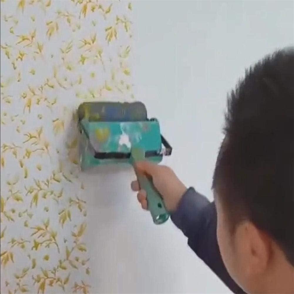 Lacyie Rodillo de Pintura en Relieve de 5.7 Pulgadas Patr/ón de Textura del Cepillo de Pintura de Pared Herramienta de decoraci/ón de Pared DIY Azul