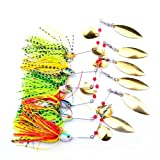 Fishing Tackle Fishing Hard Spinner Lure Spinner Bait Pike Bass 18g/0.63oz (Pack of 6)