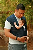 Beachfront Baby Wrap – The Versatile Mesh Water & Warm Weather Baby Carrier | Made in USA with Safety Tested Fabric, CPSIA & ASTM Compliant | Lightweight, Quick Dry & Breathable (Navy, OS)
